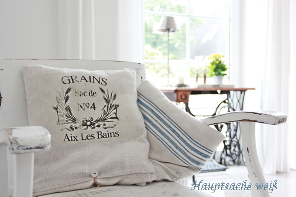 French Grain Pillow on Chair
