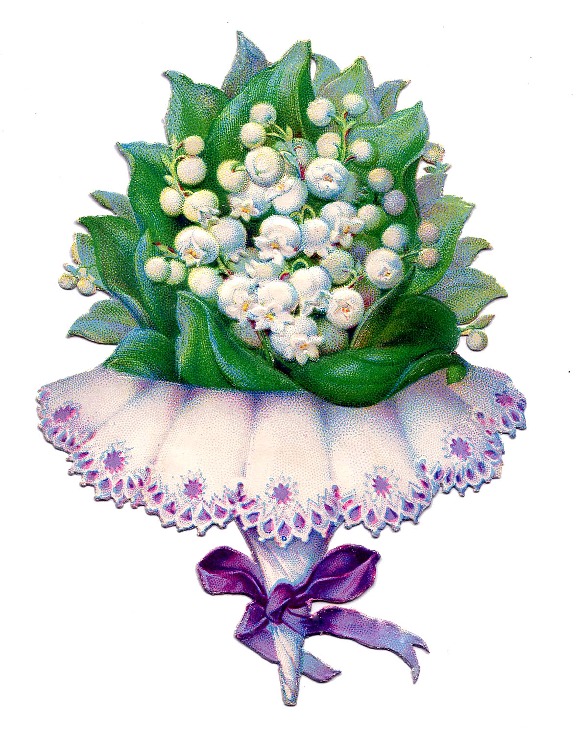 vintage image pretty tussy mussy with lily of the valley