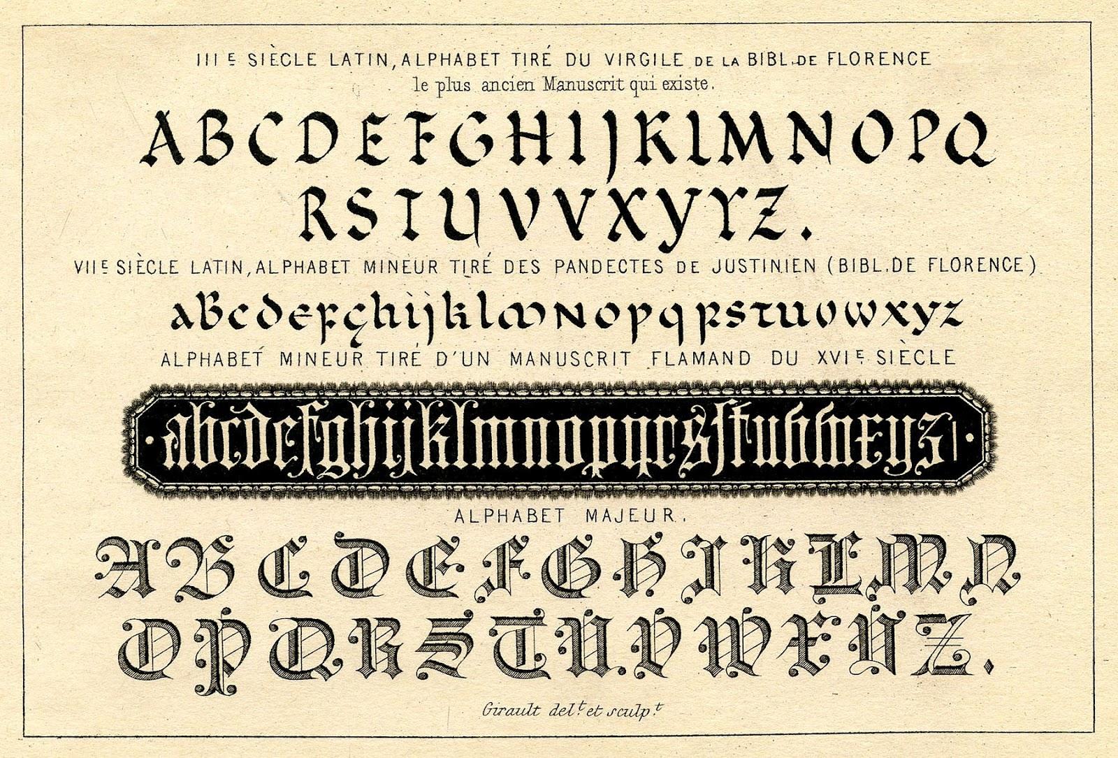 Vintage Clip Art Typography Ephemera on Latest Printable Writing Paper