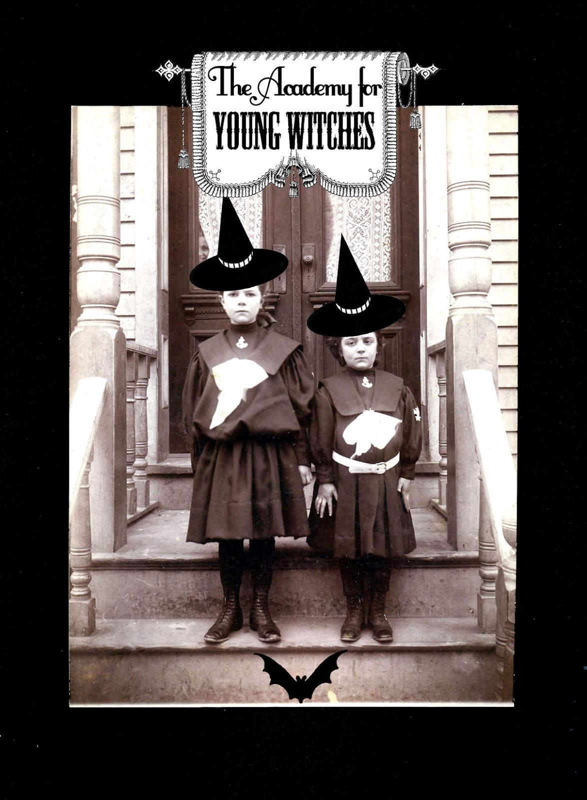 Halloween Printable - Old Photo - Young Witches - The ...