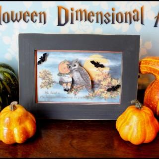 Halloween Dimensional Art