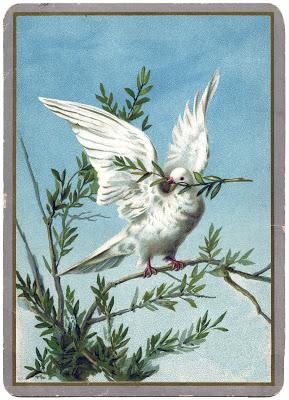 Vintage Christmas Clip Art Dove