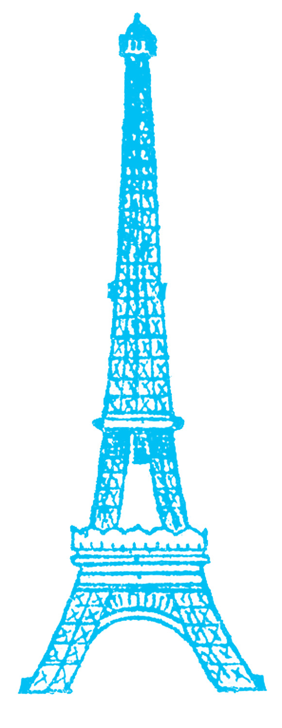 Eiffel Tower Picture - Vintage Line Drawing - The Graphics ...