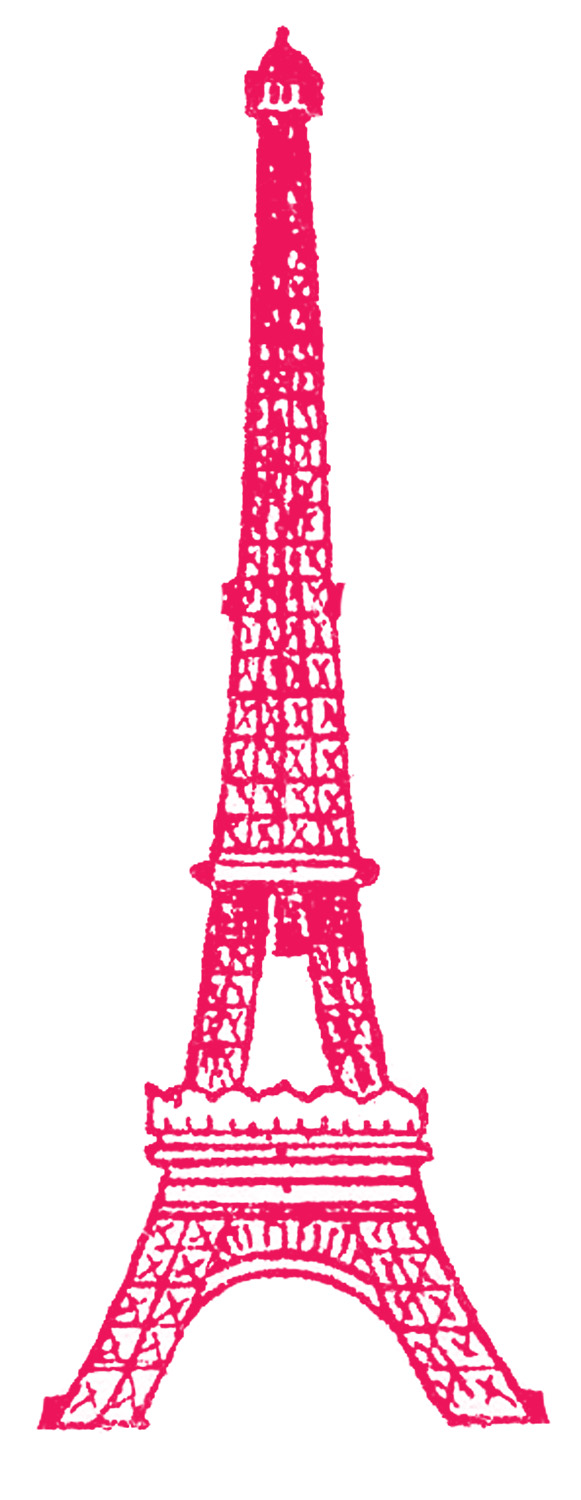 Eiffel Tower Picture – Vintage Line Drawing