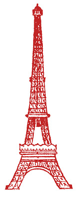 Eiffle Tower Picture Red