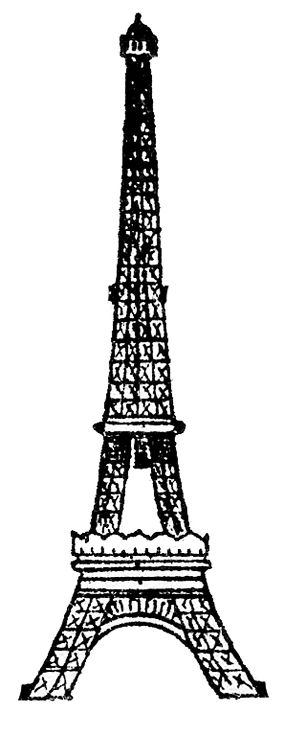 Line Drawing Eiffel Tower : Eiffel tower picture vintage line drawing the graphics