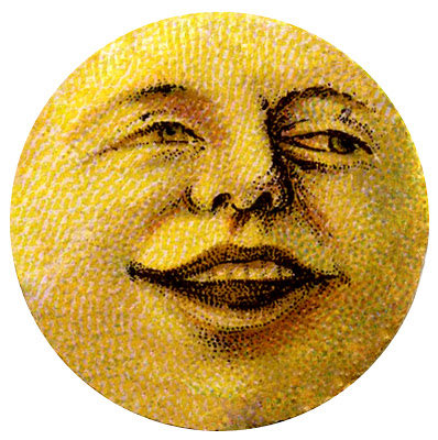 Antique Image Moon Man