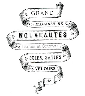 French Transfer Printable – Ribbon Banner