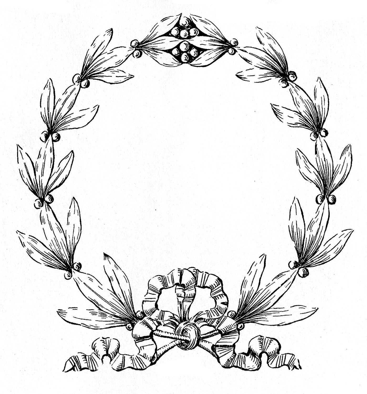 Laurel Wreath Image Black