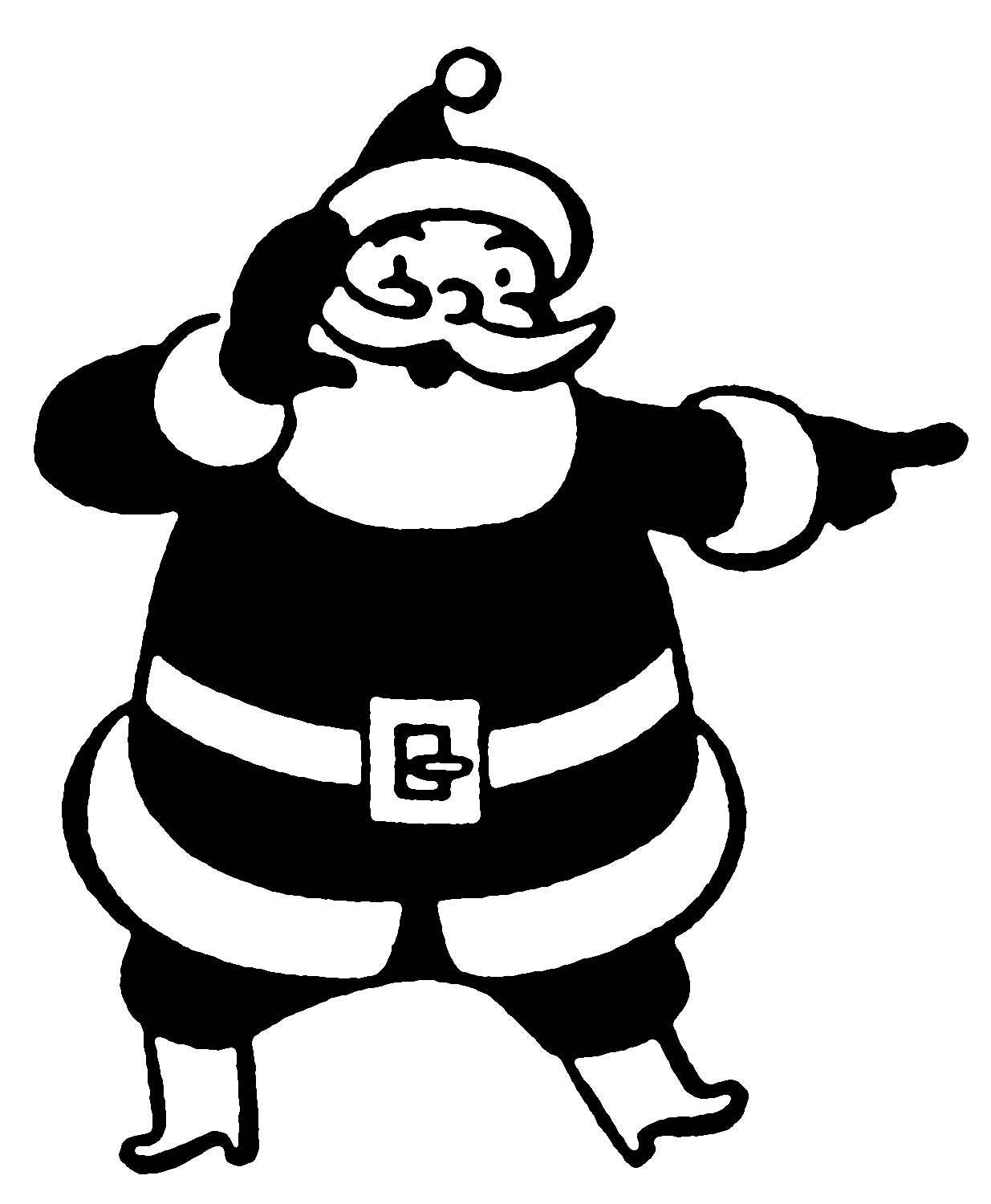 retro christmas clip art funny santas the graphics fairy rh thegraphicsfairy com santa face clipart black and white santa face clipart black and white