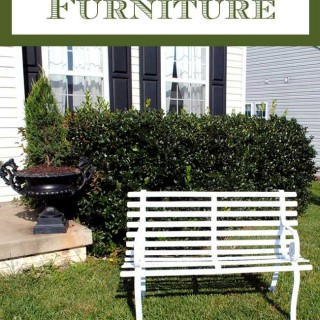 How to Paint – Rusty Iron Garden Furniture