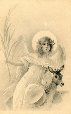 Free Holiday Image Angel Deer