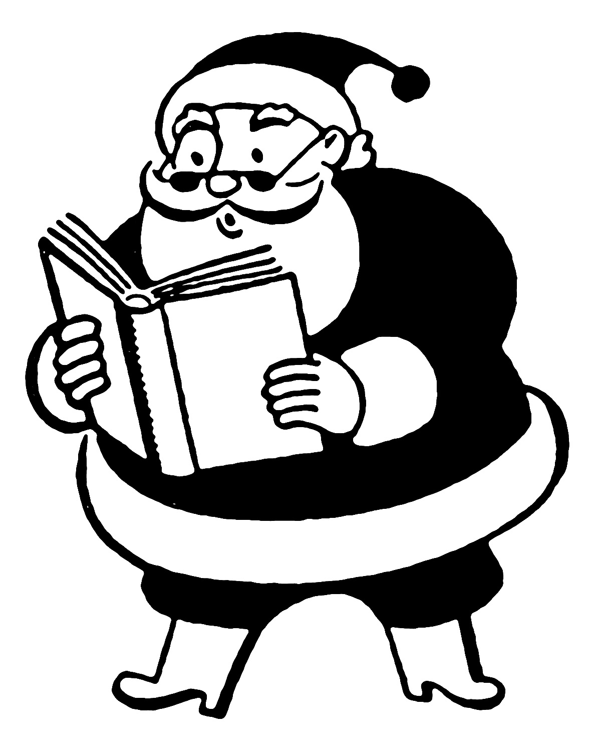 Funny Santa Reading