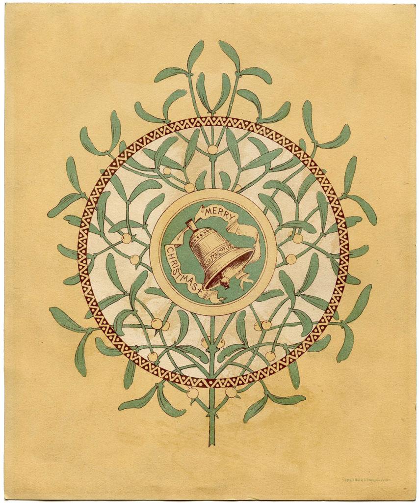 Christmas Mistletoe Bell Image