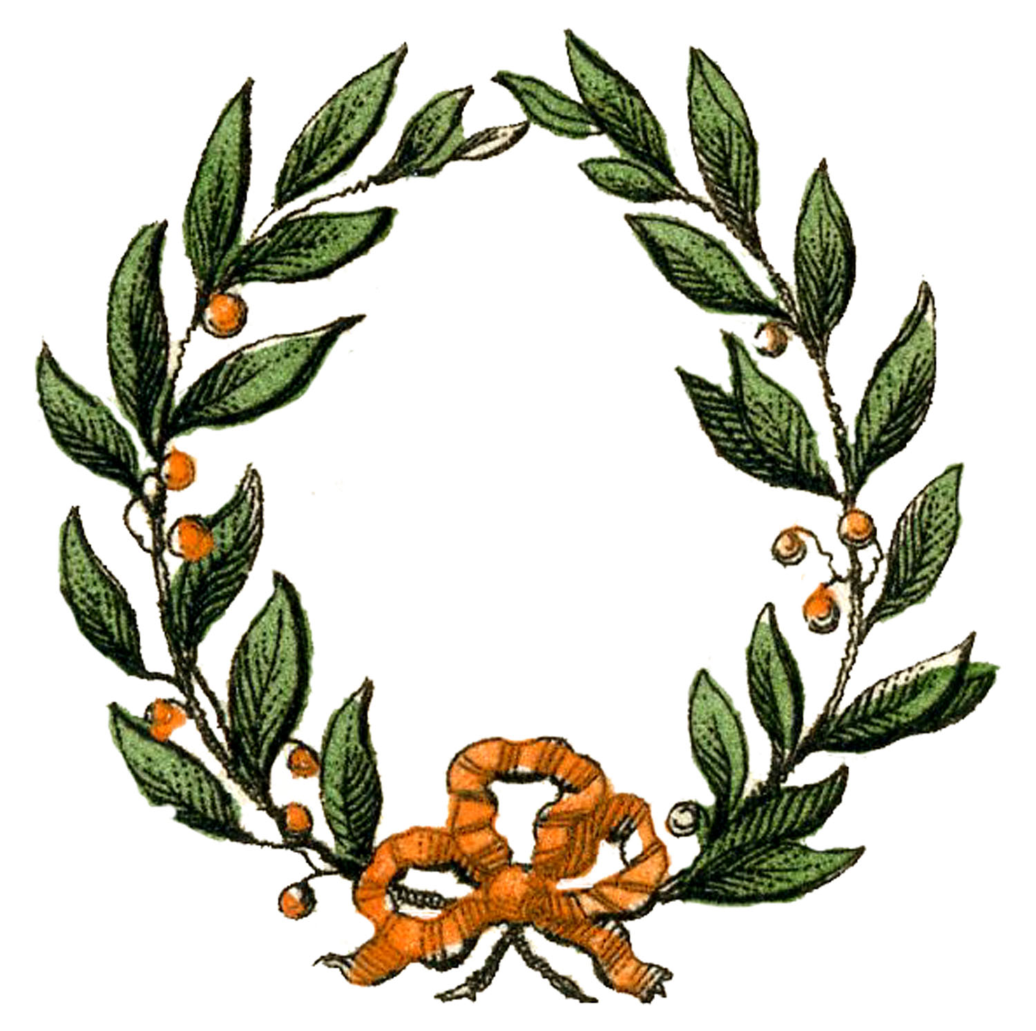 Christmas Wreath Laurel Image