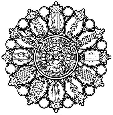 Vintage Clip Art Ornate Clock Face The Graphics Fairy