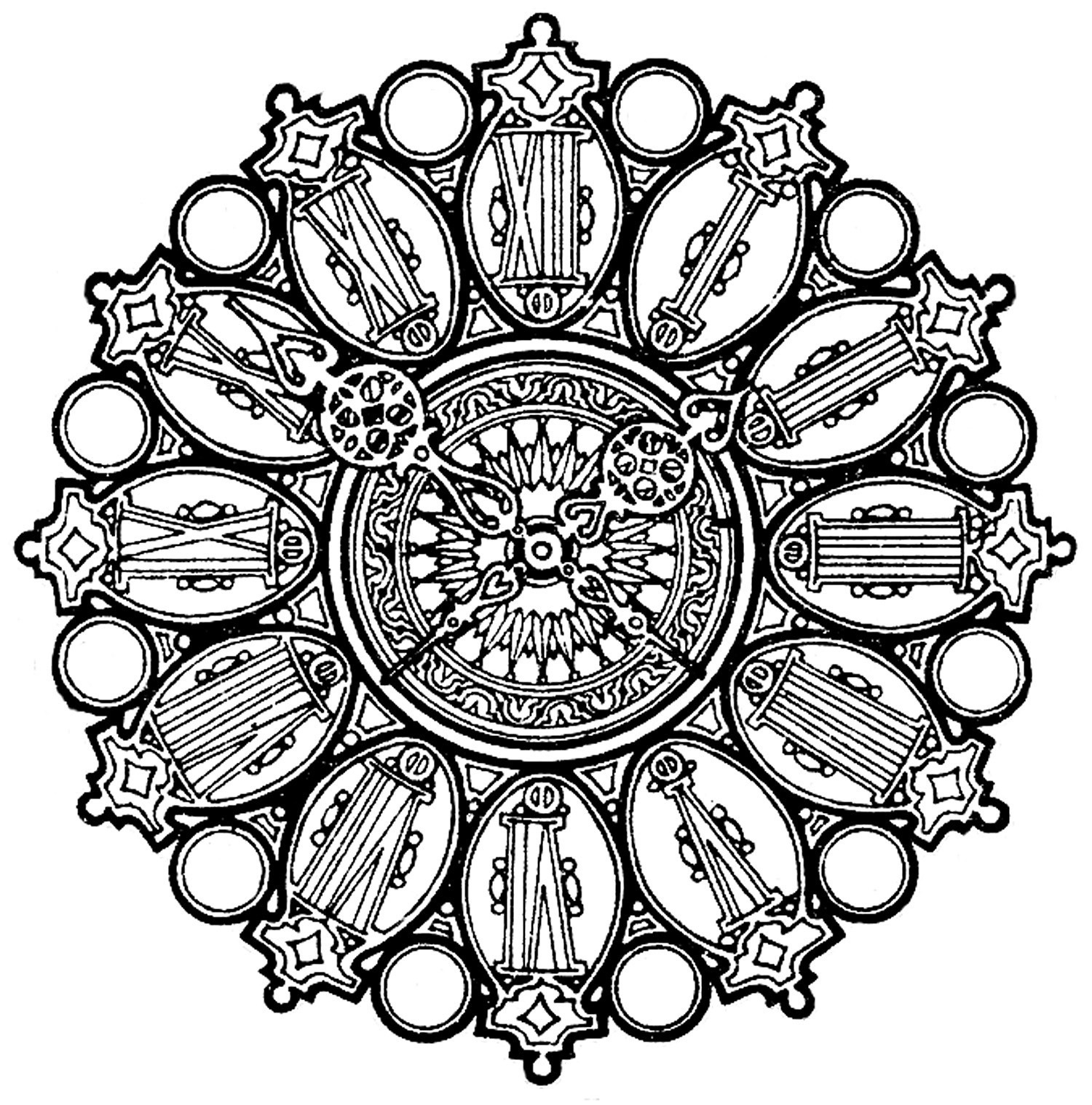 Ornate Clock Face Image