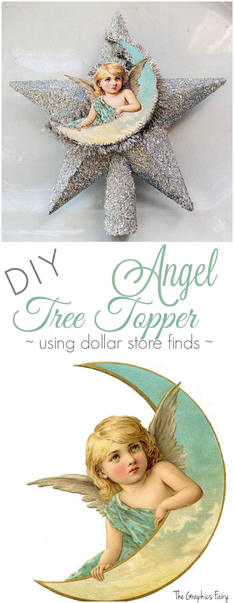 DIY Angel Tree Topper - using dollar store finds!