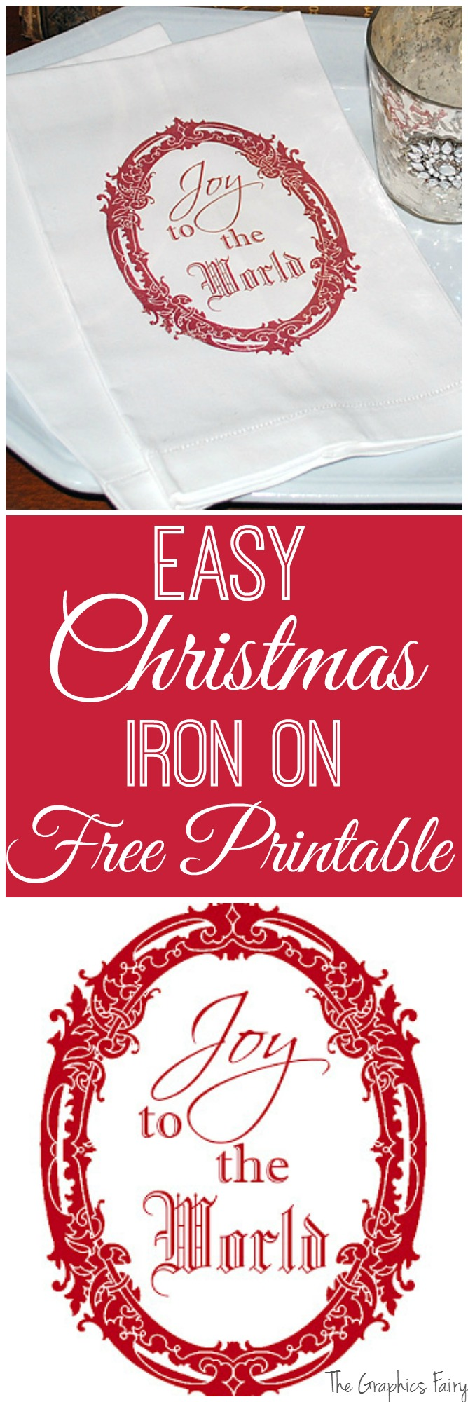 Easy Christmas Iron On FREE Printable - The Graphics Fairy
