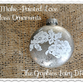 Make Some Painted Lace Glass Ornaments