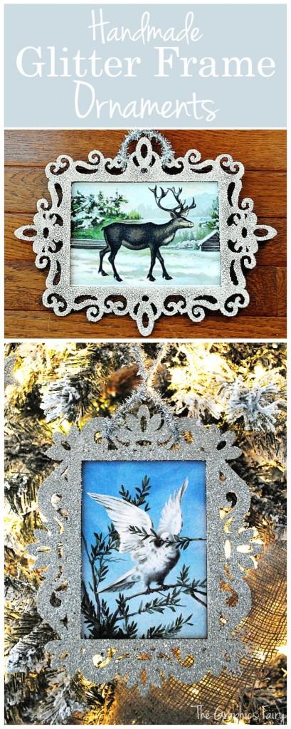 Handmade Glitter Frame Ornaments