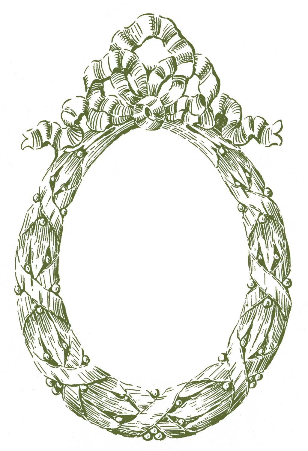 Oval Laurel Wreath Frame Images