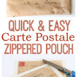 Carte Postale Zippered Pouch