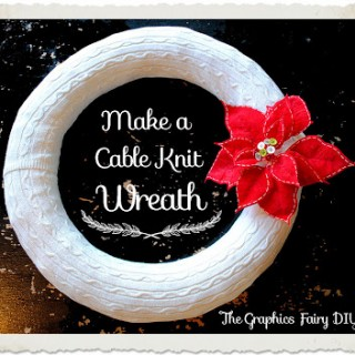 Make a Cable Knit Sweater Wreath