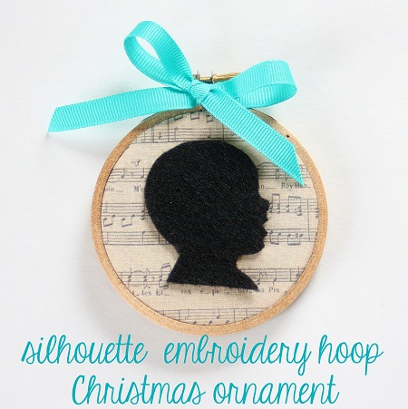 Silhouette Embroidery Hoop Christmas Ornament The