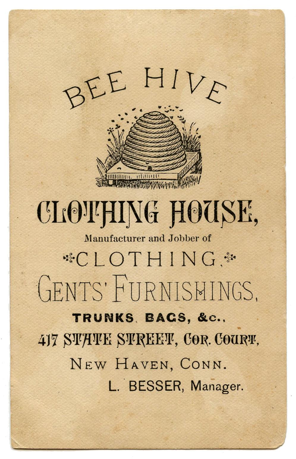 Vintage Advertising Ephemera Bee Hive Clothing The