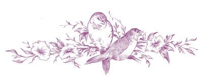 Vintage Images Birds on Branch