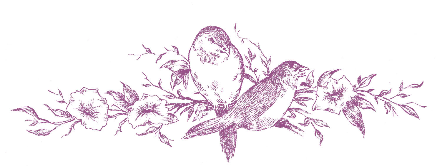 clipart flowers and birds - photo #32