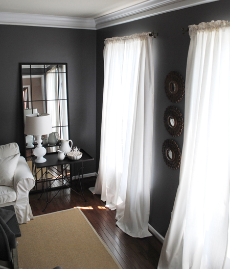 I Used To Have Similar Curtains In Here, But When I Redecorated I Went With  These White Linen Ones. After I Made The Change The Dining Room Curtains  Didnu0027t ...