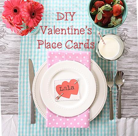 DIY Valentineu0027s Place Cards
