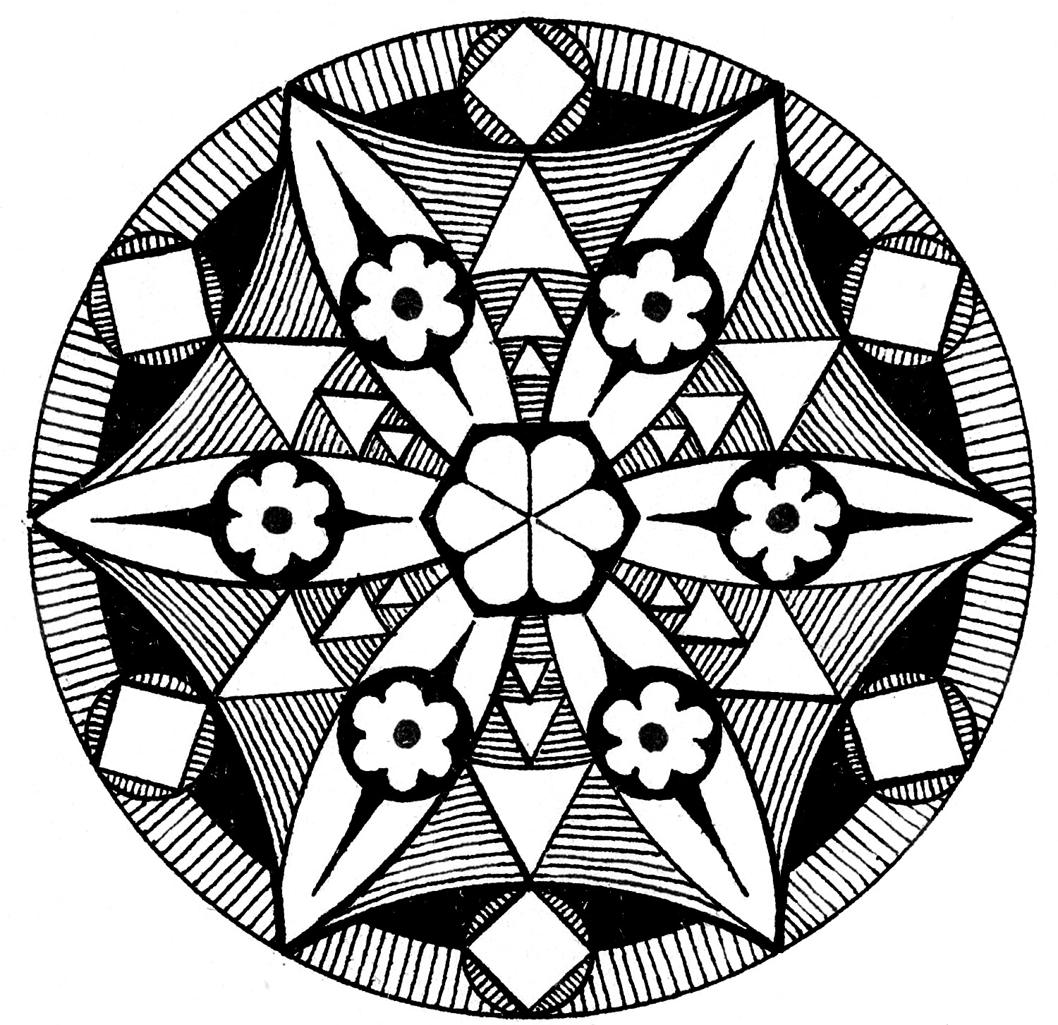 Black & White Medallion Graphic