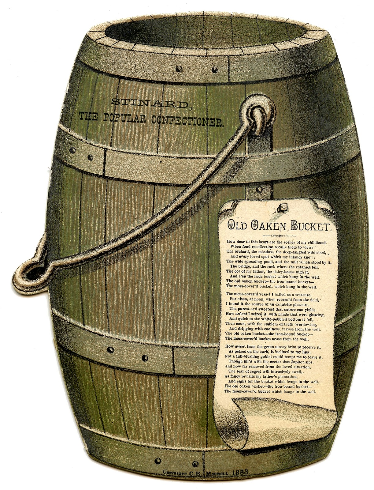 Vintage Graphic Old Wooden Barrel The Graphics Fairy