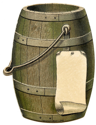 Vintage Image Wooden Barrel