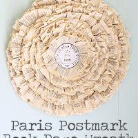 Paris+Postmark+Book+Page+Wreath
