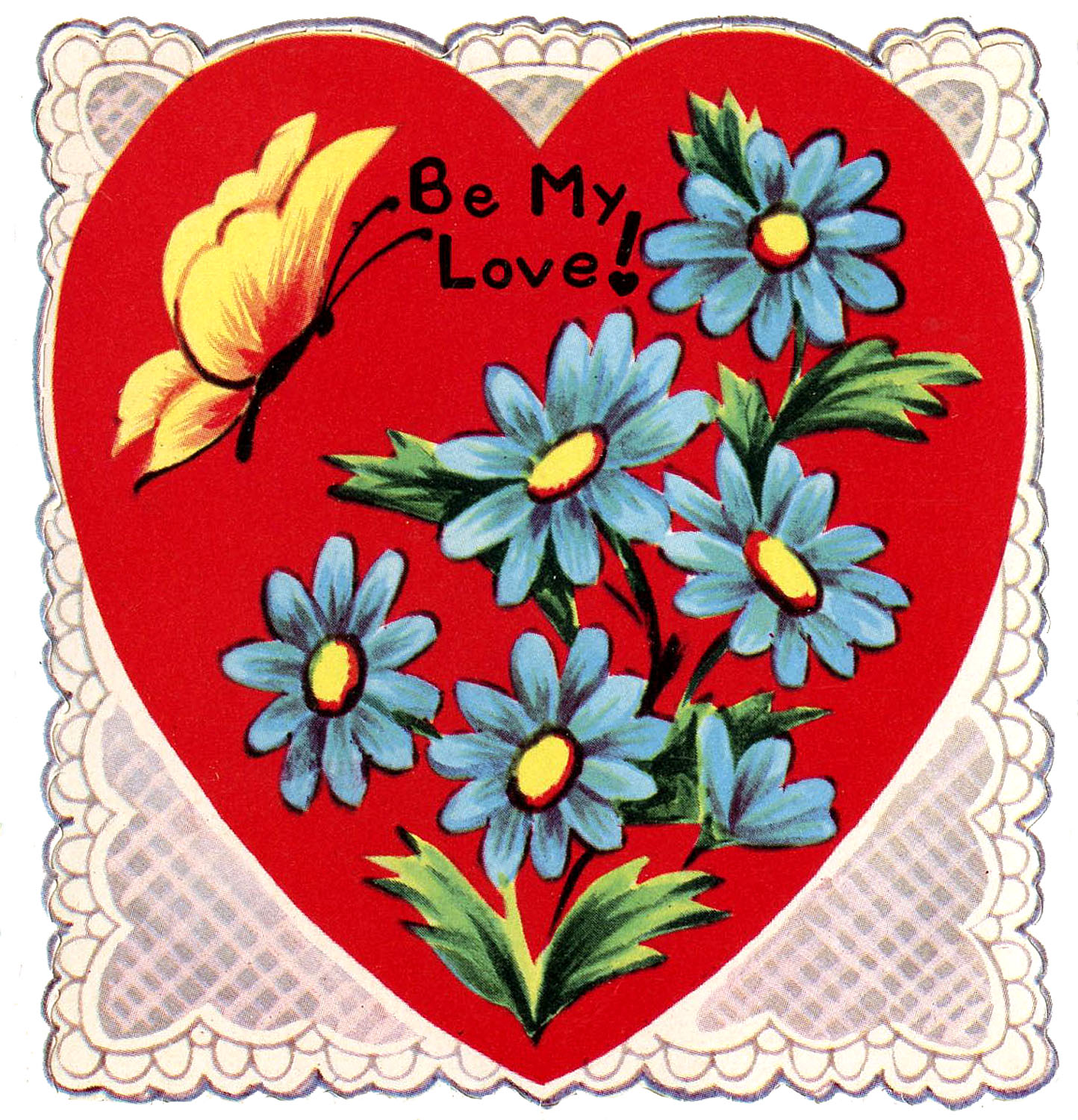 Retro Lace Heart Valentine