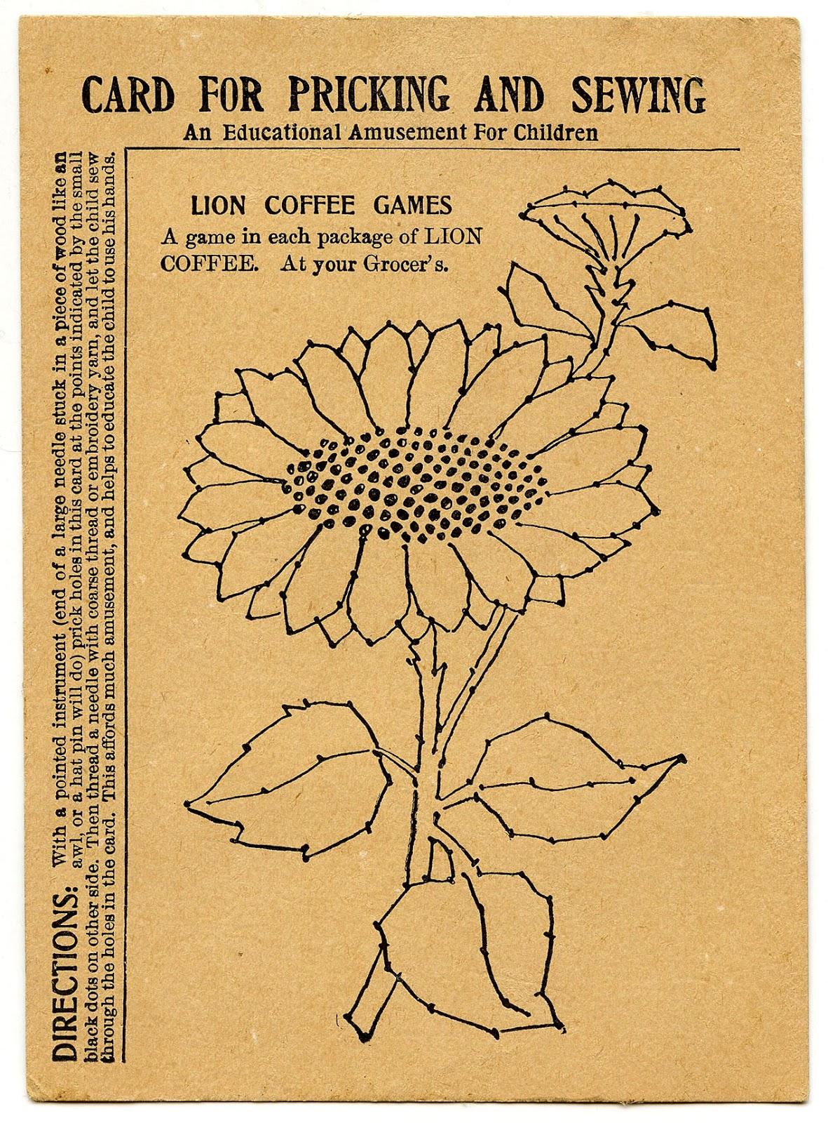 Embroidery Pattern Sunflower Line Art