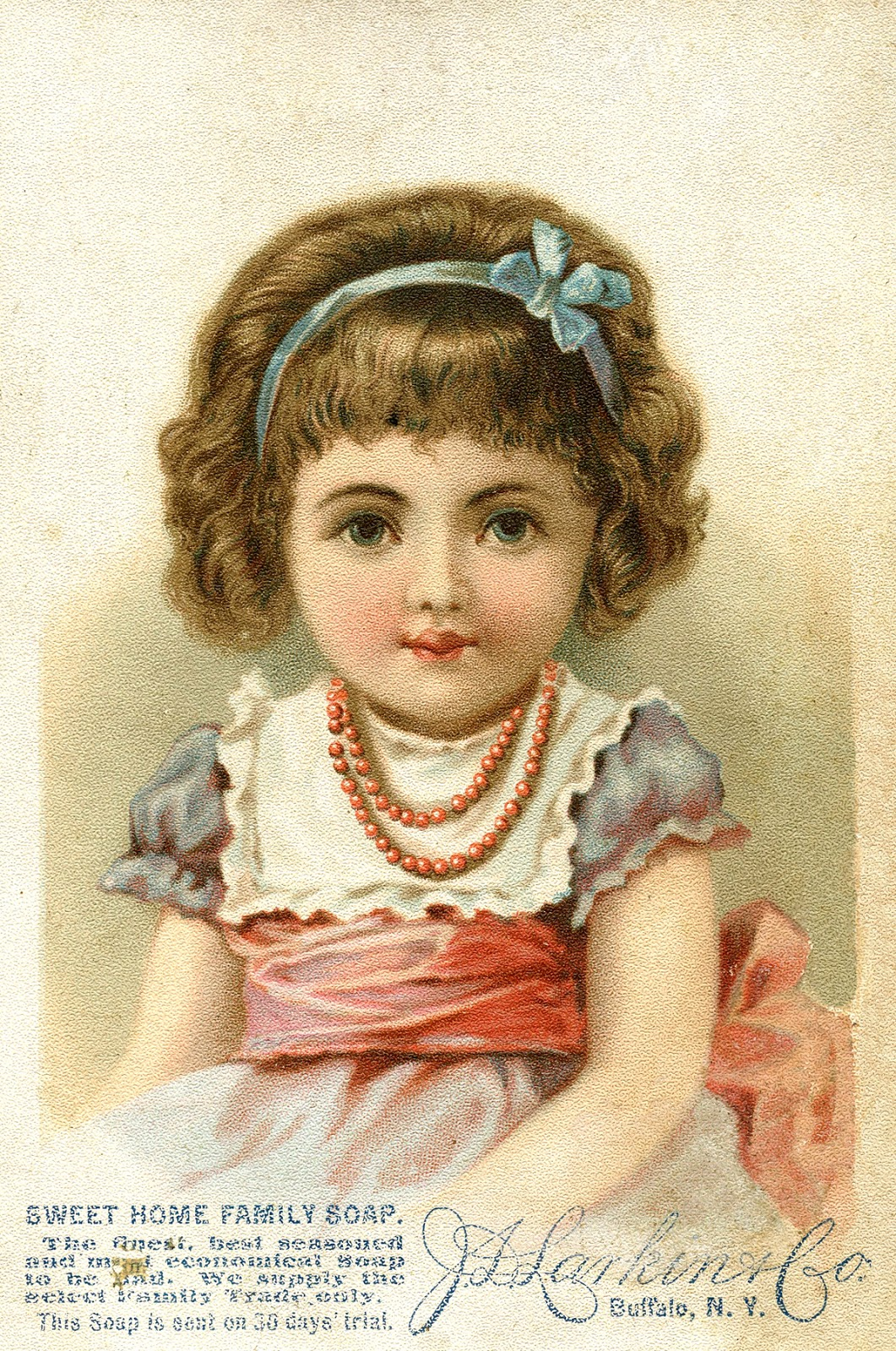 vintage graphic - cute little girl - soap ad - the graphics fairy