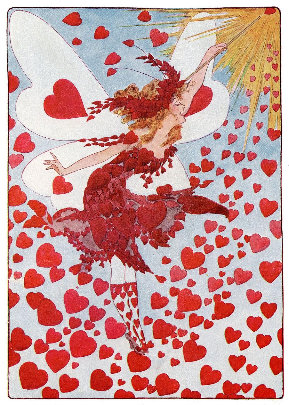 Instant Art Printable Valentine S Fairy The Graphics Fairy