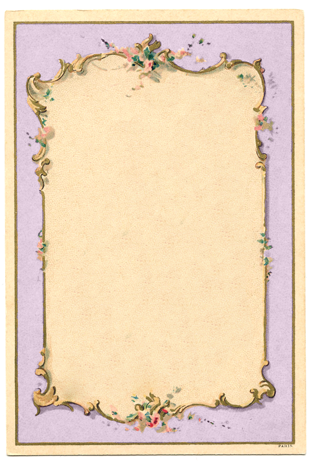 Vintage image french lilac frame the graphics fairy for How to make vintage frames