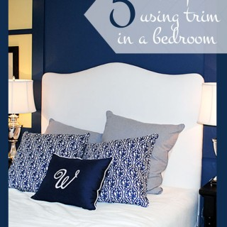 Using Wood Trim to add Interest to a Bed