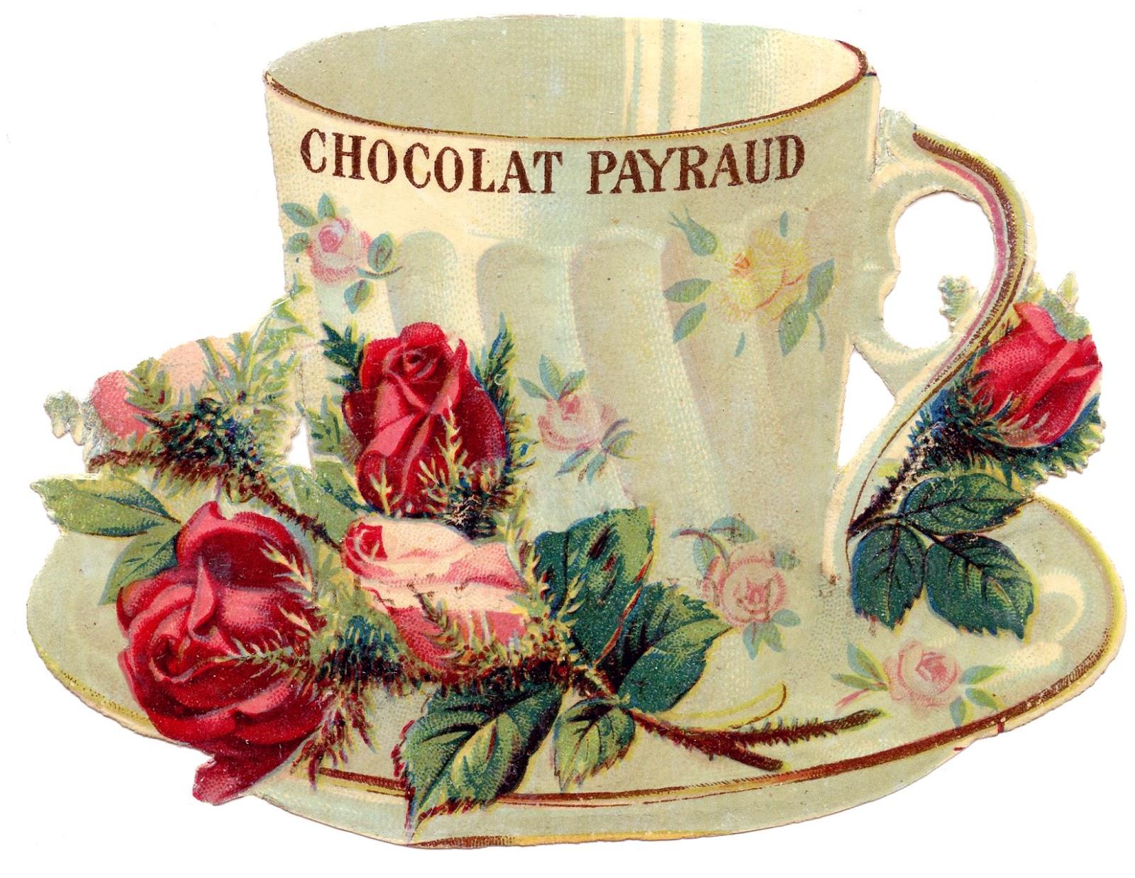 tea set vintage roses wallpaper - photo #30