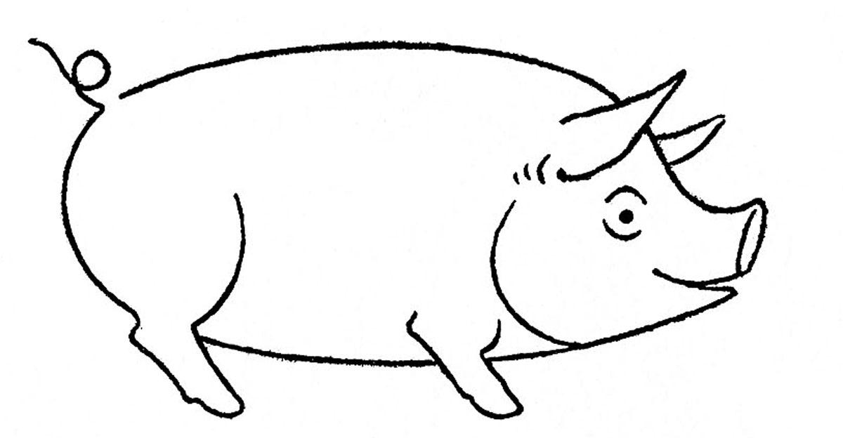 Pig drawing - photo#3