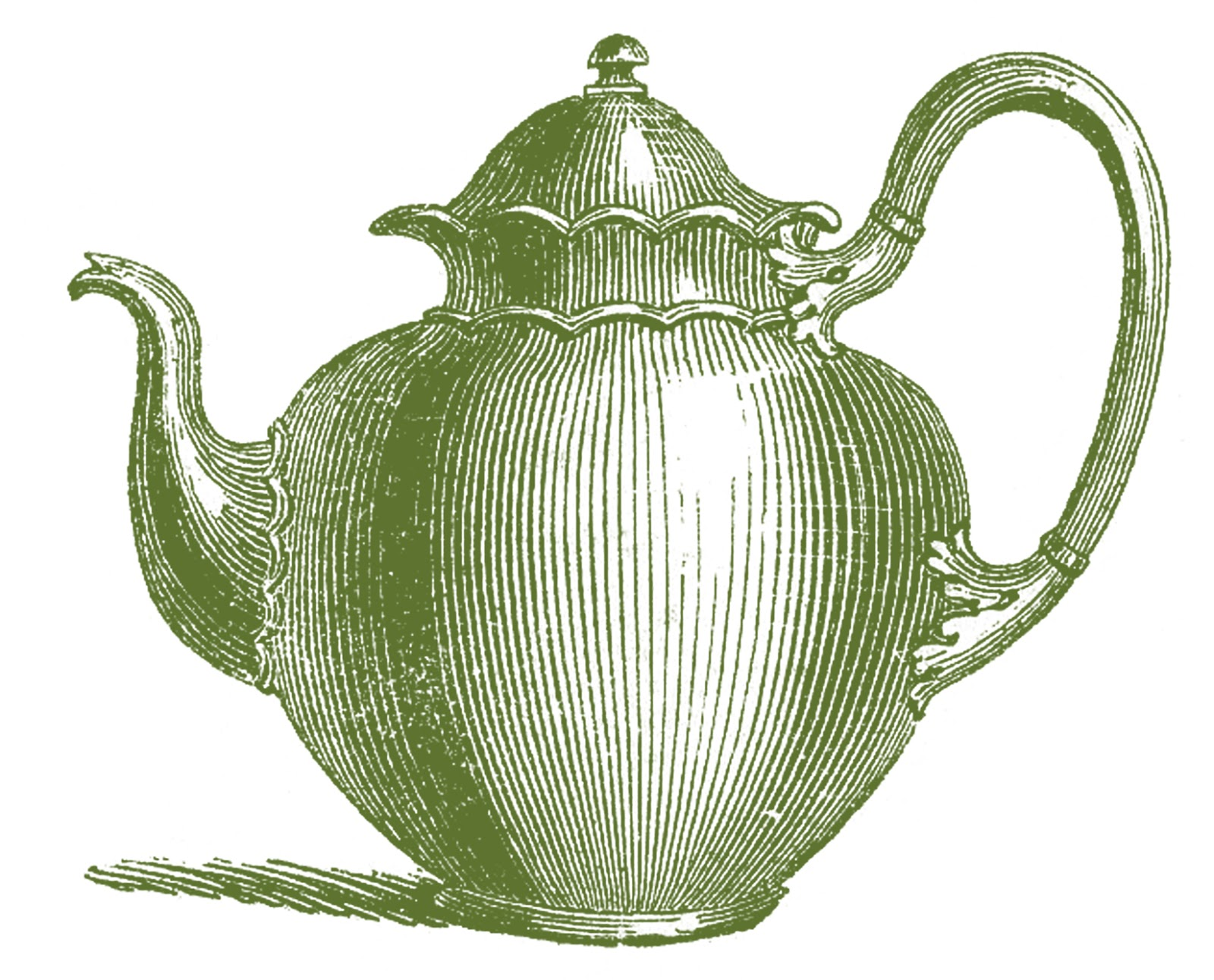 Royalty Free Images - Antique Teapots - The Graphics Fairy