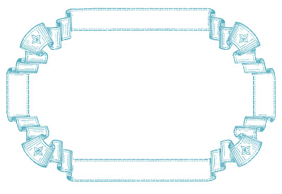Stock Images French Ribbon Frame
