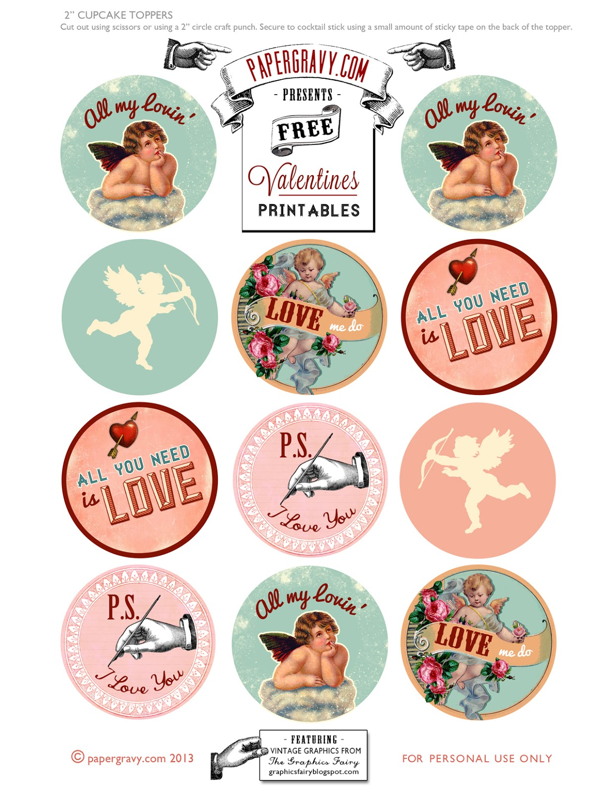 Valentine Printables - Labels - Flags