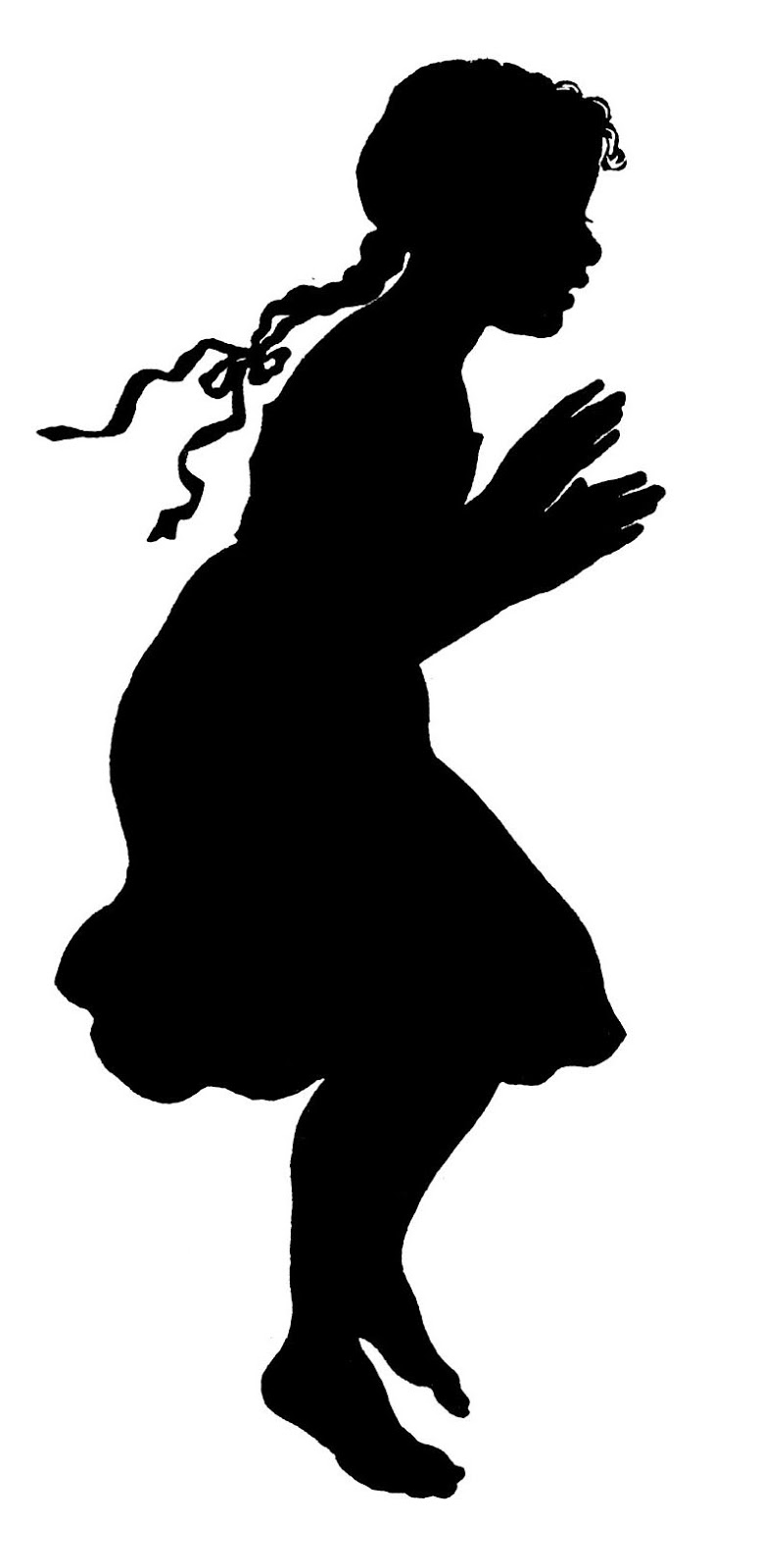 dancing girl silhouette - photo #41